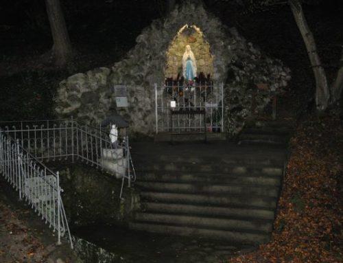 Beleuchtung für Lourdesgrotte