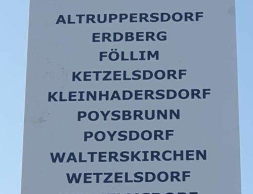 Gemeinsamer Maibaum in Poysdorf
