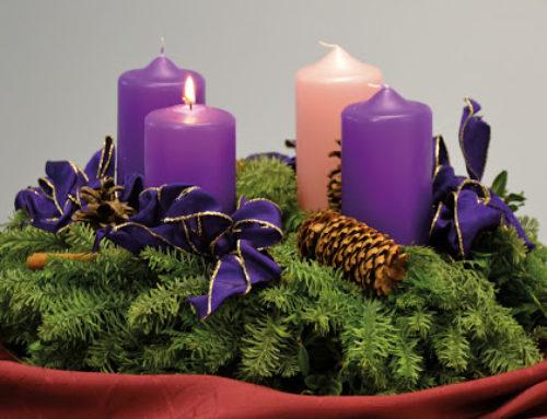 Adventkranzweihe – Hinweis auf online-Adventkalender
